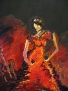 tableau personnages flamenco femme danse espagne : nu flamenco