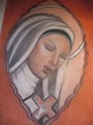 dessin personnages soeur dieu ciel priere : soeur angel