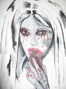 mixte personnages femme sauvage sang esprit : sauvage