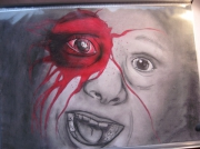 dessin personnages peur enfant sang terreur : la peur