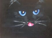 tableau animaux chat regard animaux mysthique : améthyste