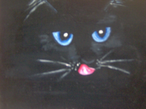 TABLEAU PEINTURE chat regard animaux mysthique Animaux  - améthyste