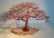 artisanat dart nature morte cuivre bonsais arbre sculpture : Arbre de vie sagesse