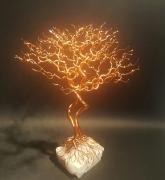 sculpture cuivre arbre amethyste sculpture : L' arbre sans feuilles