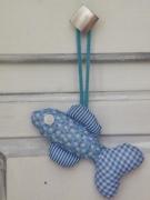 artisanat dart marine decoration pour meub poisson bleu pour poignee cadeau original : Poisson décoratif pour poignée de porte ou de meuble