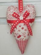 artisanat dart autres decoration coeur rouge blanc poignee de porte : coeur decoratif pour poignée de porte rouge et blanc