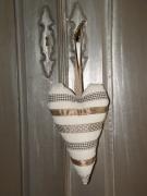 artisanat dart autres beige coeur ornement decoration romantique : coeur decoratif pour poignée de porte dans les tons de beige