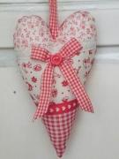 artisanat dart autres coeur deration de poignee romantique rouge : coeur decoratif pour poignée de porte rouge et blanc