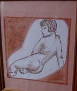 dessin nus boudeuse nu femme fessier : la boudeuse