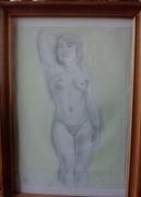 dessin nus nu face femme corps : Harmonie