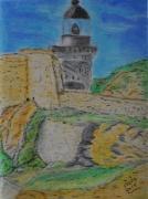 dessin paysages bretagne phare : Kermorvan