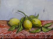 tableau nature morte : citrons