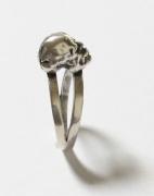 """bijoux personnages : Ring head 2015,"""" La tête à souhait"""", argent 925"""