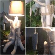 deco design autres boisflotte designe artdeco narurel : Lampe bois flotté sur pied