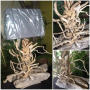 artisanat dart bois flotte decoration naturel design : lampe de salon bois flotté veritable