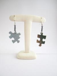 Boucles d'oreille atypique pièces de puzzle (parure puzzle)