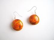 """bijoux : Boucles d'oreille collection """"Swirl"""" touche doré"""