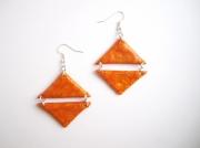 bijoux abstrait : Boucles d'oreille géométrique