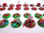 mixte fleurs : Pièces de jeu d'échec en pâte polymère inspiration florale