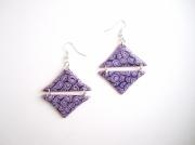 bijoux : Boucles d'oreille géométrique