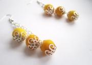 """bijoux : Boucles d'oreille collection """"3 perles valent mieux qu"""