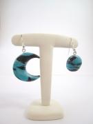 bijoux : Boucle d'oreille fantaisie demi lune + pleine lune
