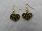 bijoux autres bijoux fantaisie boucles d orei coeur sculpte : boucles d' oreilles