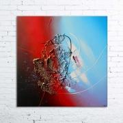 tableau abstrait tableau abstrait peinture relief : SCHIZOPHRENIA