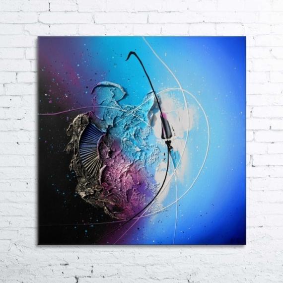 TABLEAU PEINTURE tableau abstrait peinture relief Abstrait Acrylique  - GRAVITY