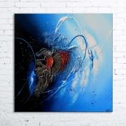 tableau abstrait tableau abstrait peinture relief : BLIZZARD