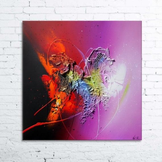 TABLEAU PEINTURE peinture absrtait tableau relief Abstrait Acrylique  - ERAKIS