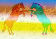 art numerique animaux chevaux : chevaux