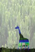 art numerique animaux girafe : girafe de Sigean