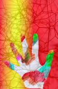 art numerique nature morte main : trace de main