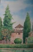 tableau architecture histoire memoir soleil : Granada(en Espagne)
