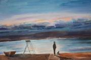 tableau paysages : matin au bord de la mer