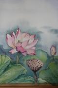 tableau fleurs l ete fleur : lotus 3