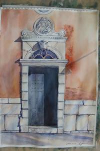 porte de la maison a Venise