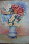 tableau fleurs fleur vase : fleur