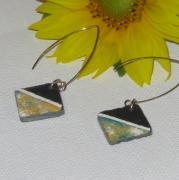 bijoux abstrait boucles d oreil email inoxydable longue : longues boucles d'oreille