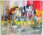 tableau abstrait abstract moderne : sans titre