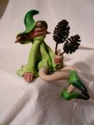 mixte personnages figurine lutin gnomos foret : Lutin des bois