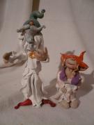 mixte personnages figurine lutin gnomos foret : Couple magique