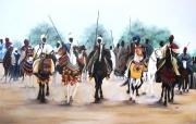 tableau personnages bissang mazagoi douboui nguebatang : fantasia a Demsa