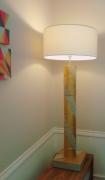 deco design abstrait beton luminaire dore : Lampe VENISE béton doré