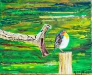 tableau scene de genre serpent oiseau vitesse mort : Moment de Solitude
