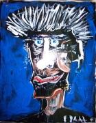 tableau autres caricature africain scarifications : Sourire scarifié