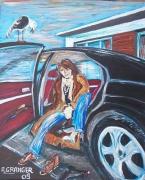 tableau personnages voiture oiseau personnage maison : Dépêches toi Carole !