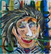 tableau personnages visage caricature noir : L'Ado Boutonneux