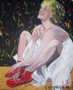 tableau personnages cecile de france femme lumiere radieuse : Jolie poupée Belge